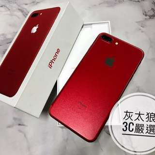 iPhone 7 Plus 128限量紅 保固內,iphone7+,i7 plus,i7+ 可貼換