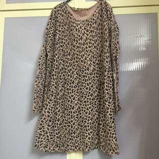 粉紅豹紋羊毛衣