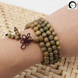 Green Sandalwood 108 Prayer Beads Mala Necklace/Bracelet