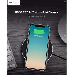HOCO CW6 Qi Wireless Charger for iPhone 8 / 8 Plus / X HOCO CW6 Qi Wireless Charger for iPhone 8 / 8 Plus / X, Samsung Galaxy S6 / S6 Edge / S6 Edge+ / Note 5 / S7 / S7 Edge