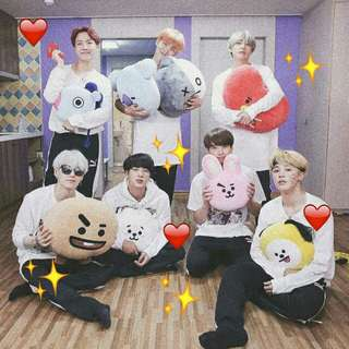 BTS BT21 DUPE PLUSHIES [ NOT OFFICIAL ]