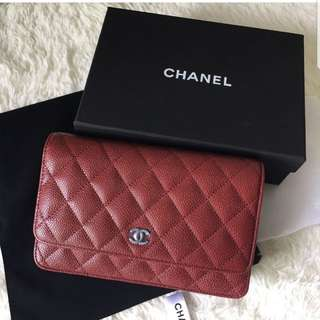 Top quality Caviar leather - red