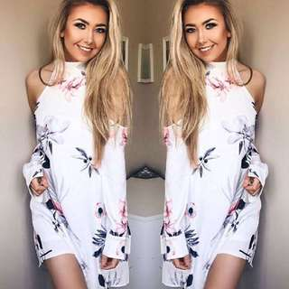 #PayDay30 Sexy off shoulder Floral Dress