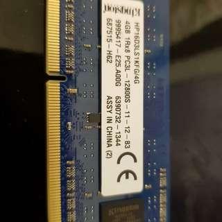 Notebook memory DDR3 4GB, 8GB