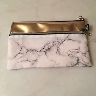 Typo Marble print Pencil Case w/ Notebook (ruled)