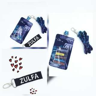 Card Holder with Lanyard- Double Layer