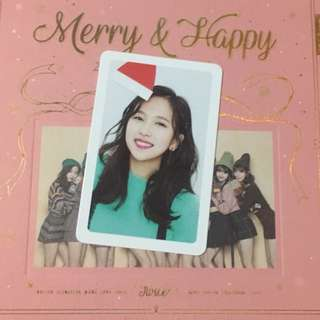[WTS] TWICE Merry & Happy Mina Photocard