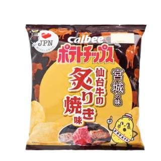 (D)卡樂B 仙台牛肉/福島魷魚蘿蔔味薯片