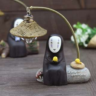 Totoro Spirited Away Faceless No Face Man Collection LED Lamp Miniature House Home Deco Display Xmas Gift