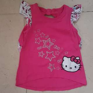 Hello kitty summer Tshirt, size 3T