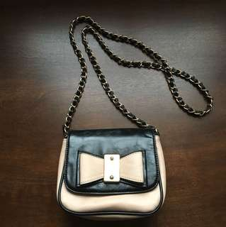 Chanel inspired faux leather shoulder bag
