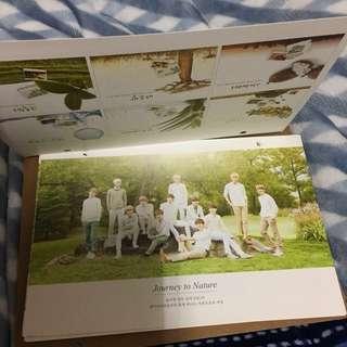 🚚 EXO 엑소 代言 自然樂園 Nature Republic 月曆
