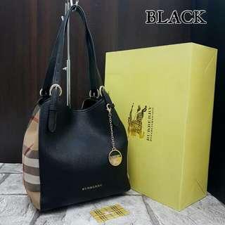 Burberry Canterbury Tote Bag Black Color