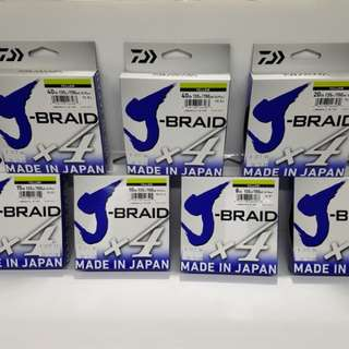 Daiwa J-BRAID X4 Braided Line (all size @135/ Yellow)