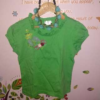 Green top for baby