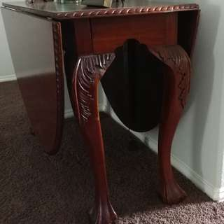 solid mahogany oval table
