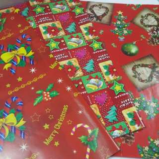 Wrapping Paper, X'mas ↪ Group 2 💱 $0.60 Each Sheet