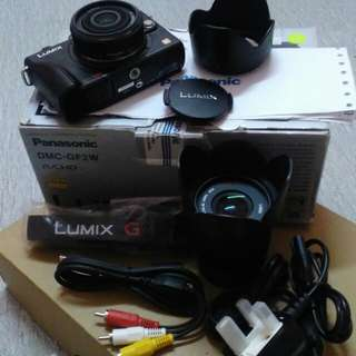Original Panasonic DMC GF2W full set but missing beteri