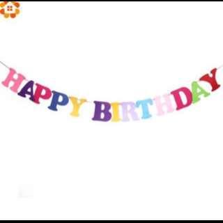Happy birthday felt bunting