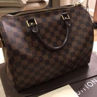 Authentic LV speedy with long strap