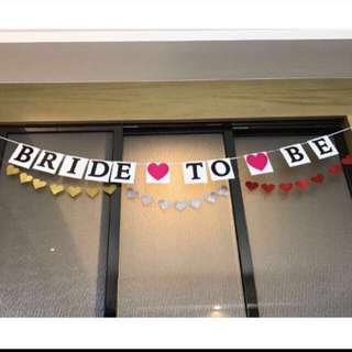 Full set $2: bride to be bunting