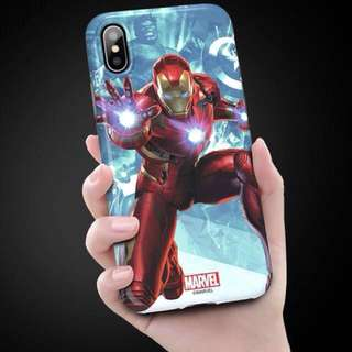 100%全新!MARVEL 原裝正版授權 Ironman 電話殻 Phone Case 手機殼 手機套 iPhone X avengers 復仇者聯盟