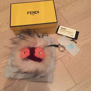 Fendi bag bug monster charm pomPom chanel hermes fendi Balenciaga loewe Celine dress shoes bag heels