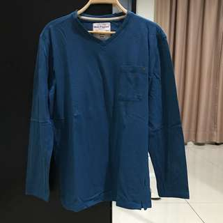 Hush Puppies Long Sleeves Turquoise Shirt (Size XL)