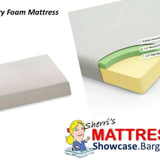 Memory foam mattress sets including local delivery