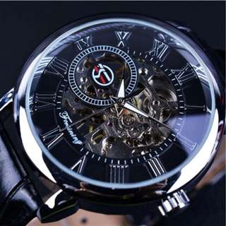 Automatic mechanical watches Hollow out Manual mechanical watch leather belt watch COUPLE WATCHES WOMEN MENS WATCHES
