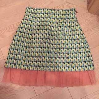 Msgm tweed skirt dress Chloé Celine Shoes chanel bag heels