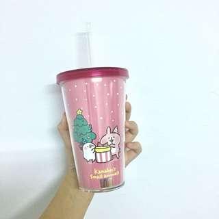 卡娜赫拉的小動物-聖誕款雙層飲料杯