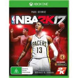 [Used] NBA 2K17 for XBox One
