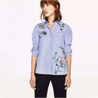 Long sleeves Embroidered Shirt