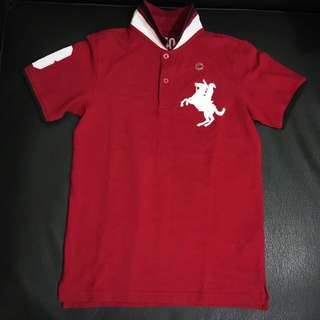 Brand New & Authentic Giordano Junior Red with White Polo Shirt