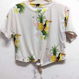 Tropical Cropped Tee