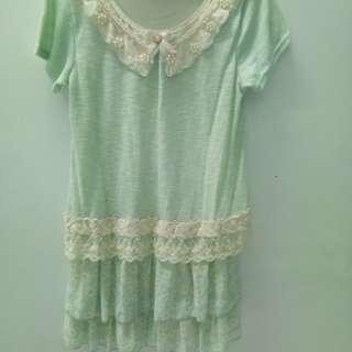 Mini dress mint