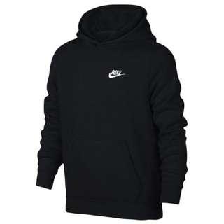 Nike 大童裝 有帽衛衣 Logo Hoodie 女仔碼 BLACK 黑色 割愛