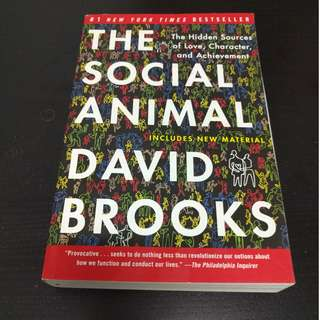 The Social Animal : The Hidden Sources of Love, Character, and Achievement - David Brooks [Paperback]