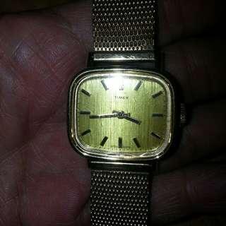 TIMEX包金女裝手錶