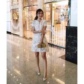 全新 la parisienne訂製款鉤花蕾絲洋裝