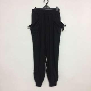 黑棉質長褲✨全新