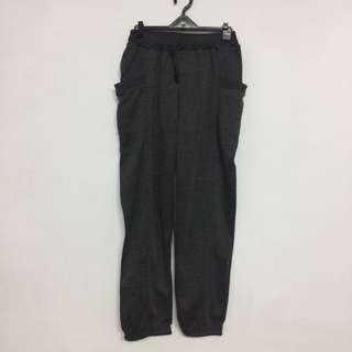 鐵灰棉質長褲✨全新