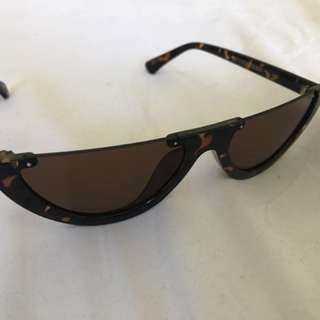 Tortoise shell half frame cat eye sunglasses *BRAND NEW*