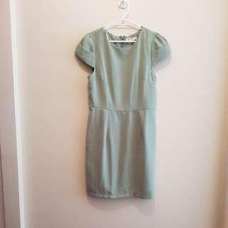 Sage green dress - size 14