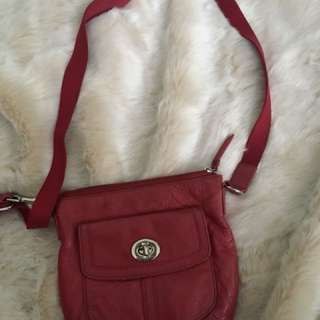 Coach - Cranberry Side Bag