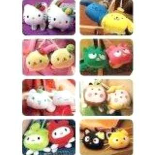 代友出售: 全新 麥當勞 Sanrio Hello Kitty & fds 扮生果公仔一套16款 (有原裝盒)