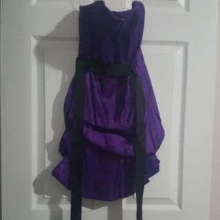 Purple size 3 scrunch dress