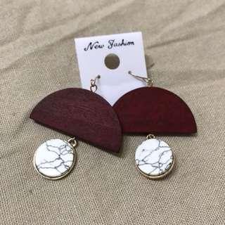 大理石紋耳環