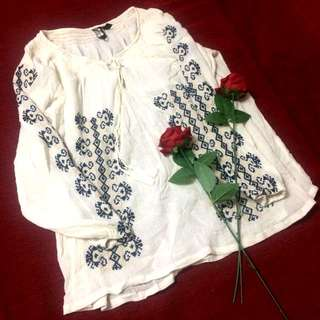 Embroidery cotton blouse